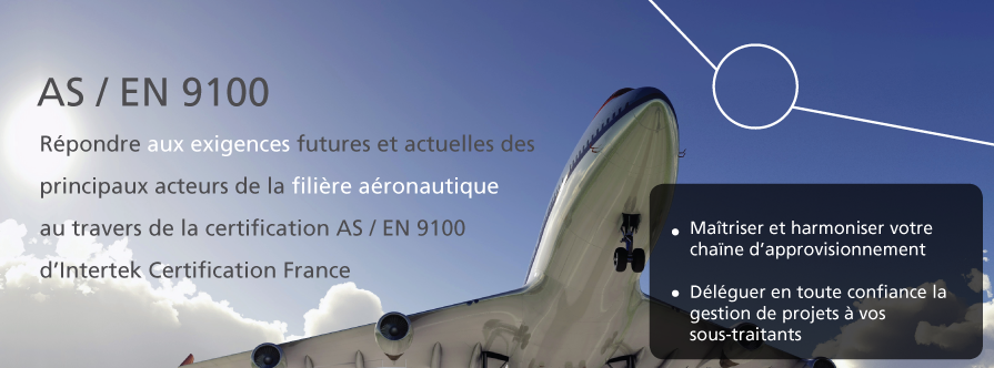 Certification aéronautique AS EN 9100